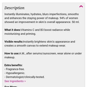 Vitamin c illumination face primer